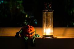 Abóbora e lâmpada de Dia das Bruxas Imagens de Stock