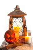 Abóbora e lanterna de Dia das Bruxas Fotografia de Stock Royalty Free
