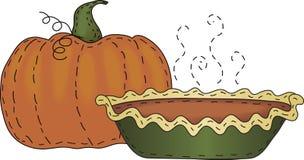 Abóbora e torta de abóbora Fotografia de Stock Royalty Free