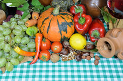 Abóbora e vegetais Fotografia de Stock Royalty Free