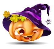Abóbora engraçada de Halloween Imagem de Stock Royalty Free