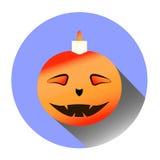 Abóbora engraçada de Halloween Fotografia de Stock