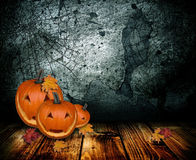Abóbora feliz de Halloween Imagens de Stock