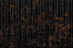 Abóbora fritada colada no plano de cozimento fotografia de stock royalty free