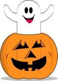 A abóbora Ghost de Dia das Bruxas revisou Imagem de Stock