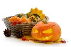Abóbora Jack O'Lantern de Halloween Imagens de Stock Royalty Free