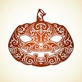 Abóbora ornamentado de Dia das Bruxas do vetor Fotografia de Stock Royalty Free