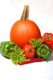 Abóbora, paprika e tomate Imagens de Stock Royalty Free