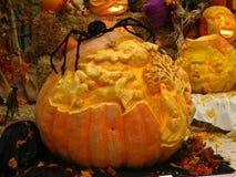 Abóboras cinzeladas de Halloween Imagens de Stock Royalty Free