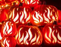Abóboras cinzeladas de Halloween Imagem de Stock