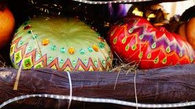 Abóboras coloridas na feira Fotografia de Stock Royalty Free