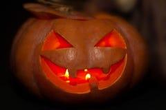 Abóboras da jaque-o-lanterna de Dia das Bruxas Imagens de Stock Royalty Free