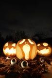 Abóboras da jaque-o-lanterna de Dia das Bruxas Imagens de Stock