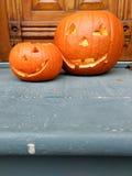 Abóboras da laranja de Dia das Bruxas Imagem de Stock Royalty Free
