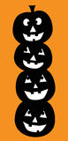 Abóboras de Dia das Bruxas Imagens de Stock