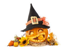 Abóboras de Halloween Fotos de Stock