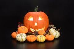 Abóboras de Halloween imagens de stock