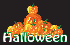 Abóboras de Halloween Foto de Stock
