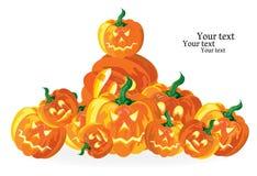 Abóboras de Halloween ilustração do vetor