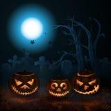 Abóboras de Halloween Ilustração Stock