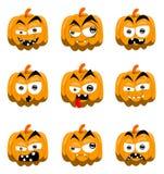 Abóboras de Halloween dos desenhos animados Foto de Stock Royalty Free
