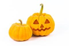 Abóboras de Halloween no fundo branco Foto de Stock Royalty Free