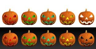 Abóboras do mal de Halloween Imagem de Stock Royalty Free