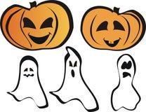 Abóboras e fantasma Imagem de Stock