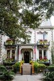 Abóboras em Savannah Porch imagens de stock royalty free