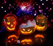 Abóboras engraçadas de Halloween ilustração do vetor