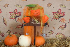 Abóboras felizes de Halloween Fotos de Stock Royalty Free