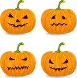 Abóboras para Halloween ilustração stock