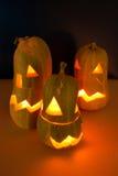 Abóboras para Halloween foto de stock