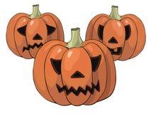 Abóboras para Halloween Imagens de Stock Royalty Free