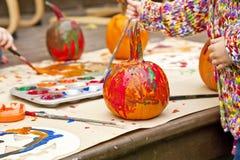 Abóboras pintadas Imagens de Stock Royalty Free
