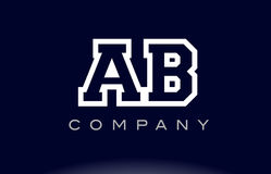 AB A B alphabet letter logo icon company. AB A B alphabet letter combination logo creative company vector icon design template Royalty Free Illustration