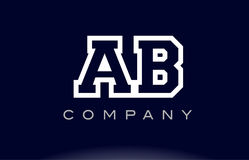 AB A B alphabet letter logo icon company. AB A B alphabet letter combination logo creative company vector icon design template Vector Illustration