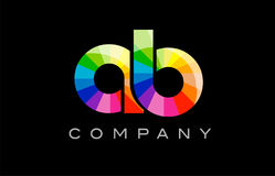 AB A B alphabet letter mosaic vector design Royalty Free Stock Photography