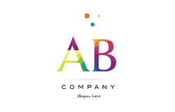 Ab a b  creative rainbow colors alphabet letter logo icon. Ab a b  creative rainbow colors colored alphabet company letter logo design vector icon template Royalty Free Stock Images