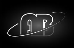 AB A B letter alphabet logo black white icon design. AB A B letter logo combination black white alphabet vector creative company icon design template modern Royalty Free Stock Image