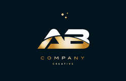 Ab a b white yellow gold golden luxury alphabet letter logo ico. Ab a b white yellow gold golden metal metallic luxury alphabet company letter logo design icon Vector Illustration