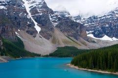 ab banff加拿大湖冰碛国家公园 免版税库存照片