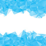 AB blue triangle. Abstract illustration of blue triangles of different sizes on a white background Stock Image