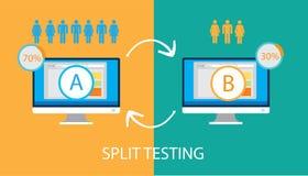 Ab-de gespleten test van de testvergelijking Stock Foto