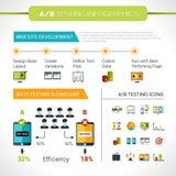 Ab die Infographics testen vector illustratie