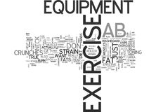 Ab Exercise Equipment Word Cloud. AB EXERCISE EQUIPMENT TEXT WORD CLOUD CONCEPT Stock Photography