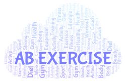 Ab Exercise word cloud. Wordcloud made with text only vector illustration