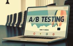 Ab-het Testen - op Laptop het Scherm close-up 3d Royalty-vrije Stock Foto's