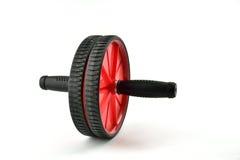 Ab-hjul på vit Fotografering för Bildbyråer