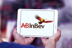AB InBev firmy piwny logo Fotografia Royalty Free